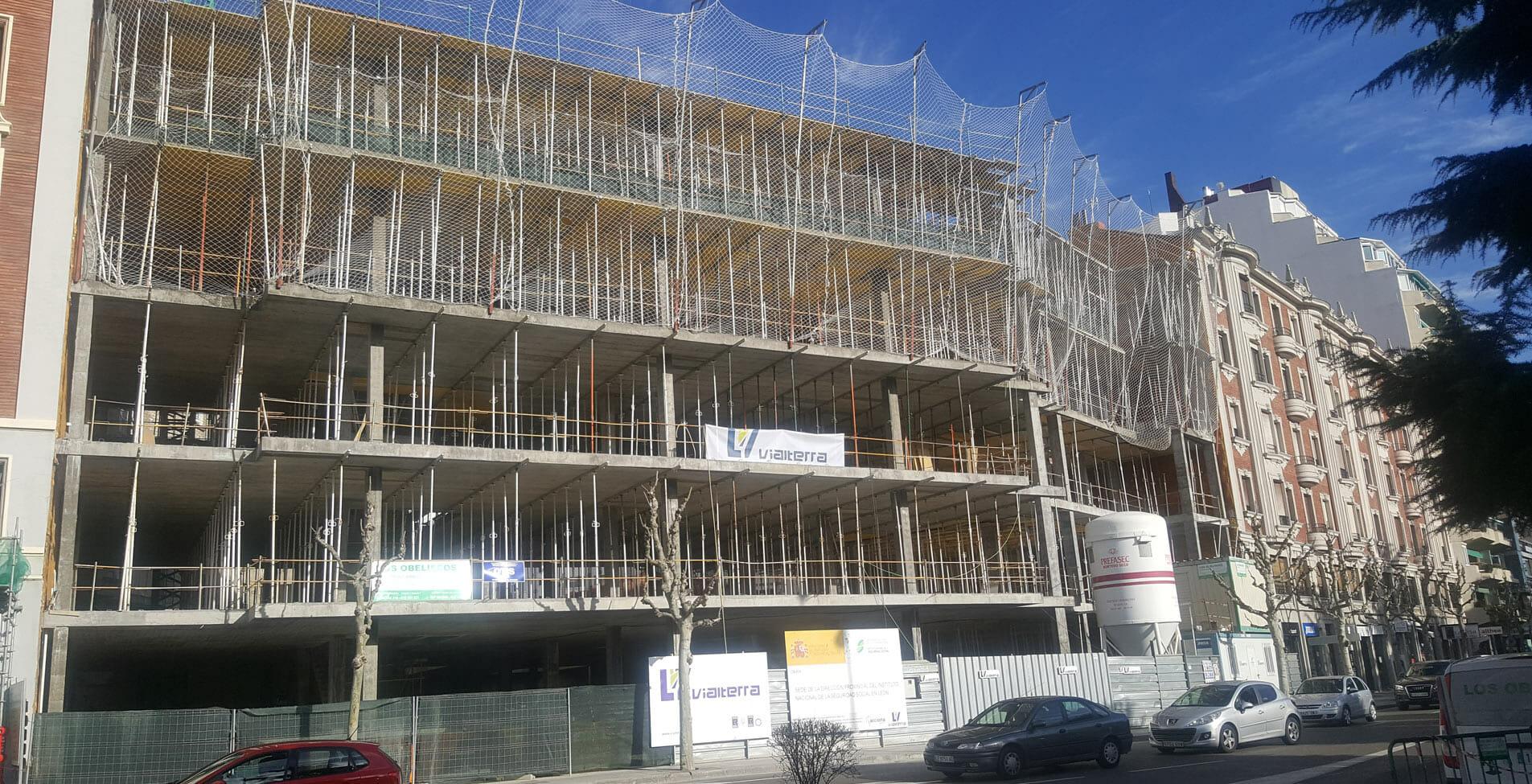 Estructura de hormigón nueva sede INSS en León