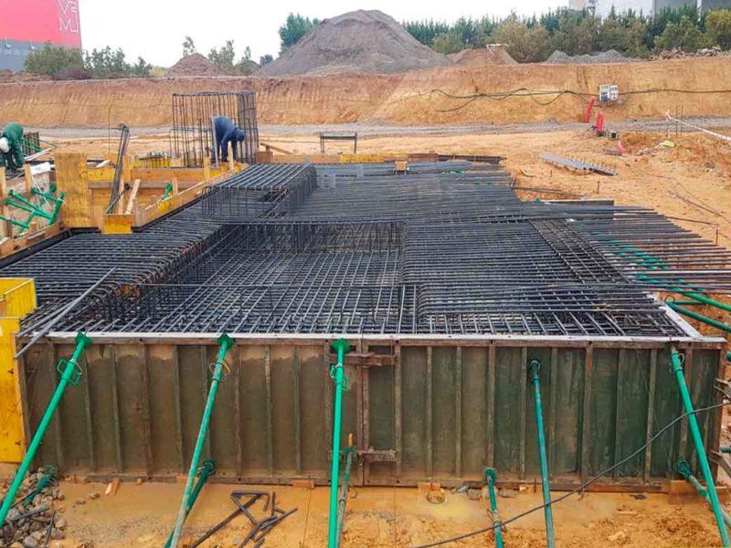 Estructura de hormigón fábrica