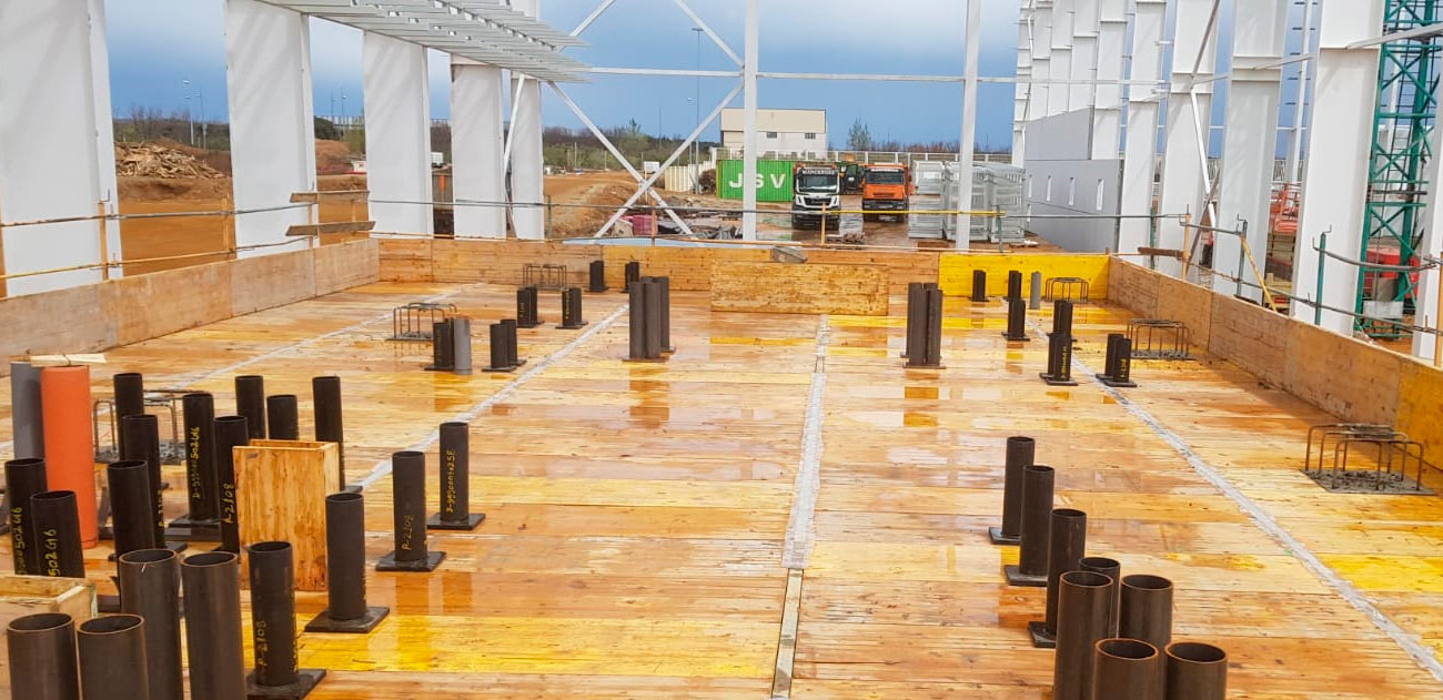 Estructura de hormigón nave industrial