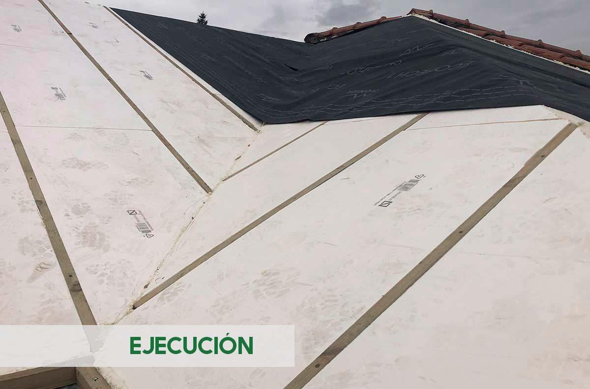 Cubierta tejado vivienda unifamiliar