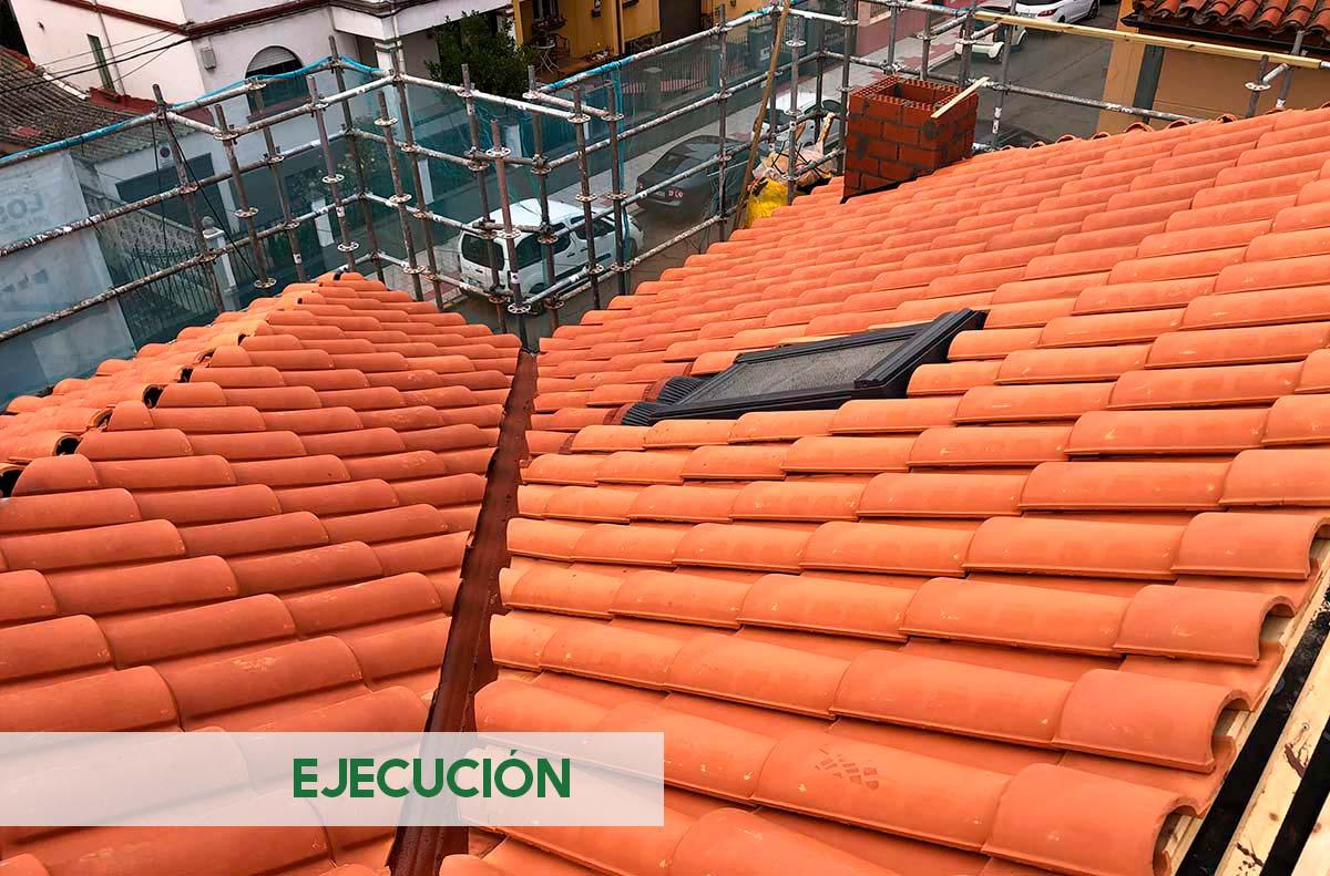 Tejado chalet en León